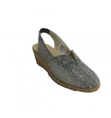 Closed-toe female closed-toe shoe with open heel Salemera in gray
