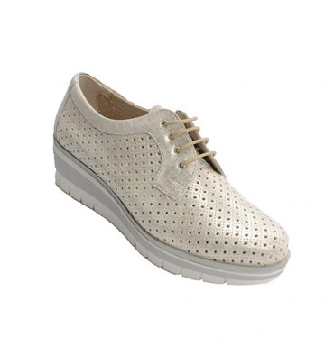Sport shoe with drawstring Pitillos in metallic