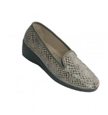 Closed sneaker with snake and lapel pattern Muro in gray