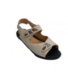 Very comfortable woman sandal very soft plant with velcro Doctor Cutillas in beig