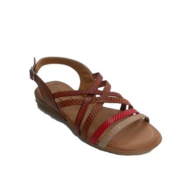 Women's sandal with colorful strips Togar in various colors