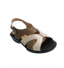 Sandal women beige and brown tones very comfortable Doctor Cutillas in various colors