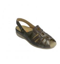 Doctor Cutillas Woman sandal for orthopedic insole metallic B06XWCQ7P9