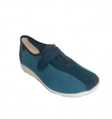658a1f34257 Zapatilla mujer tipo deportiva calada Doctor Cutillas en azul marino