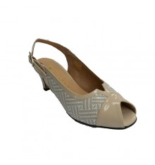 Combined women's sandal in beige tones Trebede in beig