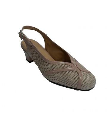Women Open Heel Dress Shoe Trebede in beig