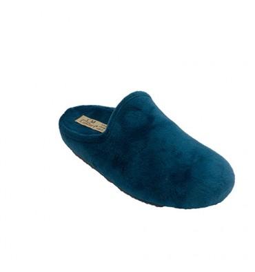 Zapatilla estar en casa abierta atrás mujer Calzamur en azul