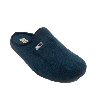 Slippers at home open man back Calzamur in navy blue