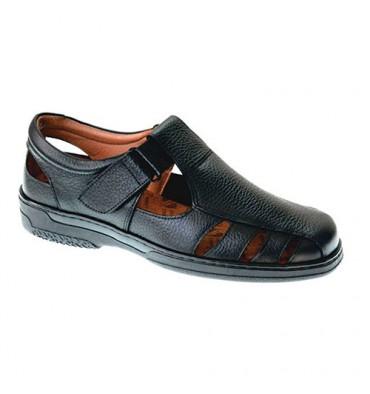 Sandálias masculinas especiais para diabéticos muito confortáveis Primocx em Preto