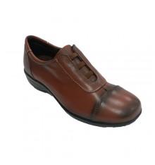 Zapatos sport mujer elásticos en el empeine 48 Hours en marrón