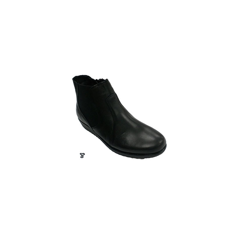 faf2131c Botín mujer cremallera lateral 48 Hours en negro