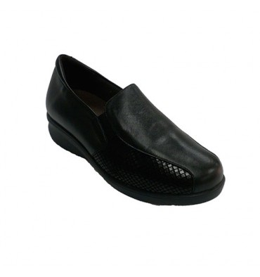 Leather and Lycra women shoe Doctor Cutillas in black
