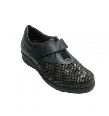 Zapato mujer pala licra de serpiente Doctor Cutillas en negro