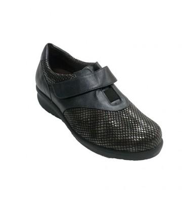 Snake Lycra Women's Shoe Doctor Cutillas em Preto