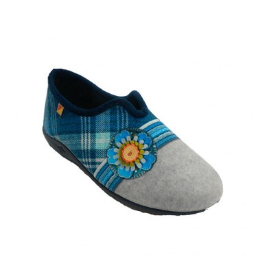 Sneaker closed woman with opening instep flower and pictures Alberola in various colors