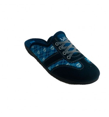 Open back man shoe simulating a sports Alberola in blue
