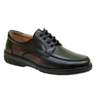 Zapato cordones hombre especial para diabéticos extra cómodo Primocx en negro