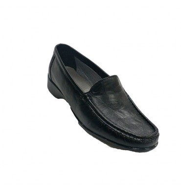 Woman shoe type moccasin Fleximax in black