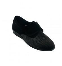Zapatilla mujer invierno tipo zapato Doctor Cutillas en negro