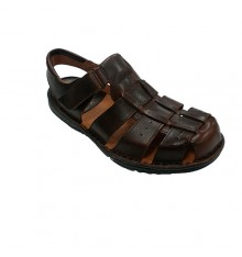 Sandal man closed toe and open heel 48 Hours in brown