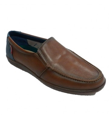 Summer shoe man type moccasin nautical Tolino in leather