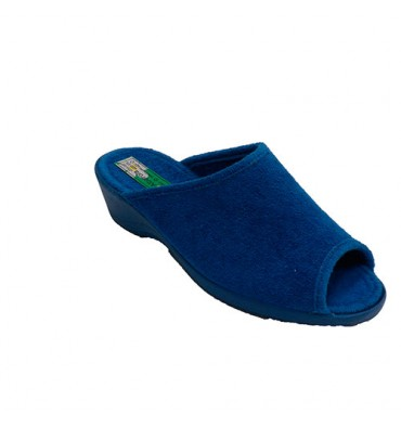 Chancla towel woman be home open toe and heel Alberola in blue