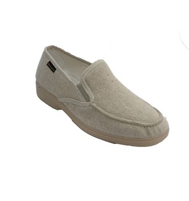 Slippers man type moccasin very soft Alberola in beig