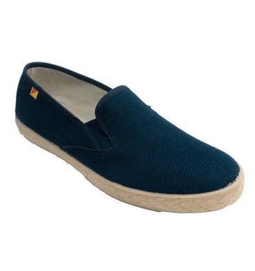 Shoe man closed template esparto hemp Alberola in navy blue