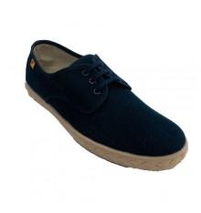 Shoe man laces hemp esparto template Alberola in navy blue