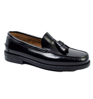Castellanos tassels rubber sole Edward´s in black