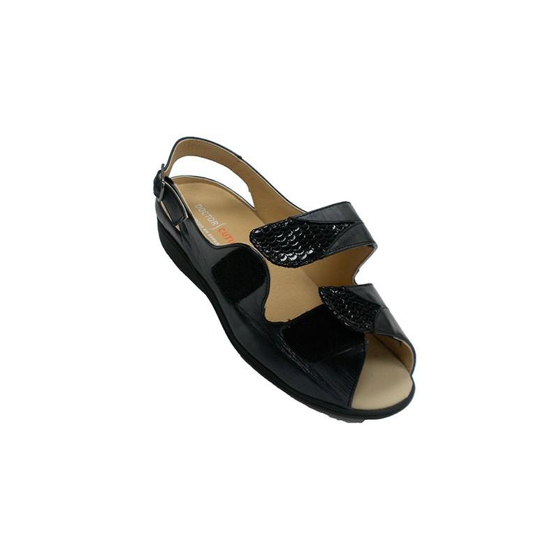 Ancho Mujer Doctor Velcro Especial Plantillas Sandalias Negro Ortopérdicas Cutillas En 6vYIb7gfy