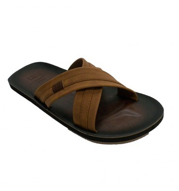 Flip flops beach pisicina man crossed strips Gioseppo in light brown