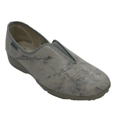 Shoe woman closed with elastic instep Muro in gray