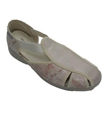 Calça mulher sandália tipo elástica Muro em Beig