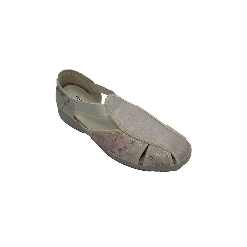 Zapatilla Mujer Muro Tipo Elásticos Sandalia Beig En 5Aj43qRL