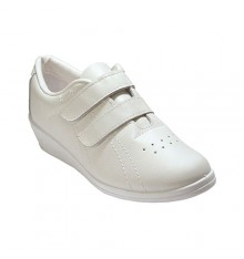 Deportivo velcro wedge lady with skin Fergar in white