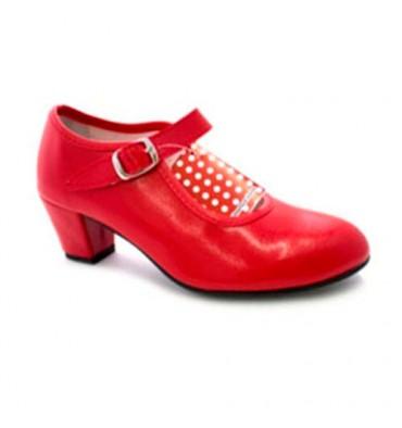 Sevilha sapato de dança flamenco menina ou mulher Danka em Red