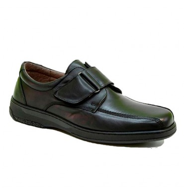Velcro shoe very comfortable special diabetic man Primocx in black