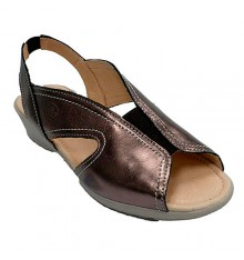 Woman sandal rubber instep 48 Hours in metallic