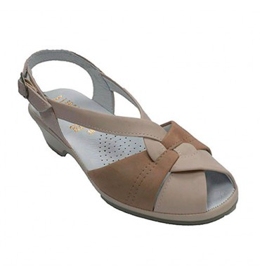 Very comfortable woman sandal Lumel in beig