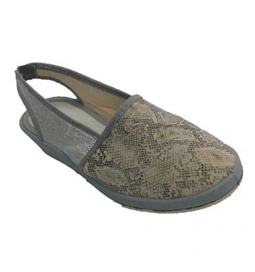 Shoe woman closed by the open toe heel Soca in gray