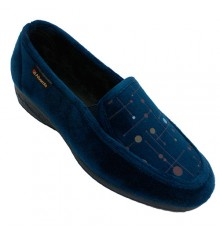 Shoe woman closed circles colors Alberola in navy blue