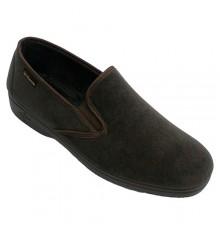 Sapato homem simulando veludo cotelê Alberola em Kaki