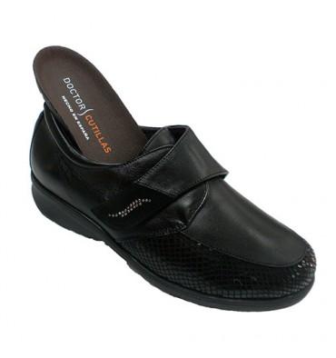8fff679926 Zapato velcro mujer licra plantillas extraíbles muy ancho Doctor Cutillas  en negro