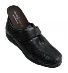 Velcro shoe special woman for very comfortable insoles Doctor Cutillas in black