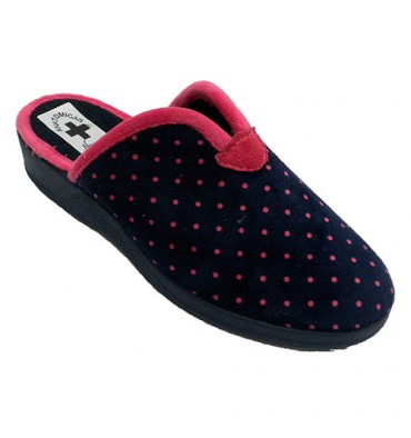 c4ba10c42b1 Woman s slipper for home opening instep Nevada in navy blue model 4941