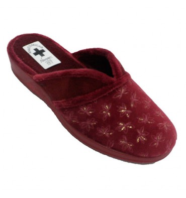 14ed3cbc36 Woman shoe open behind instep opening Nevada in garnet model 1158