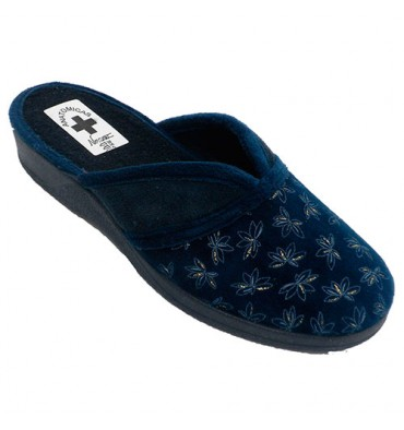 62b58c1e32 Woman shoe open behind instep opening Nevada in navy blue model AC5945