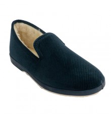 Zapatillas corduroy man Soca in navy blue