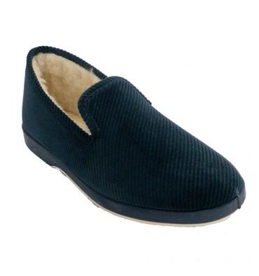 Zapatillas corduroy man Soca in navy blue